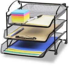 desk office file document paper. 3 PACK Stackable Letter Tray Desk Office File Document Paper Organizer Holder D