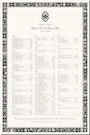 Adinkra Symbols African American Wedding Seating Chart