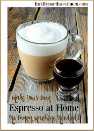 homemade espresso drinks