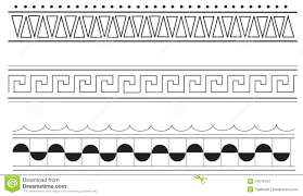 Border Patterns New Ancient Greek Border Patterns Stock Vector Illustration Of Simple