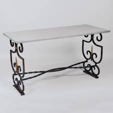 Iron Center Table Design French Wrought Iron And Cast Stone Center Table Auction