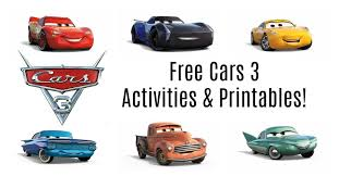 Free Cars Printables Get Your Free Cars 3 Activities Printables Here I Am The Maven