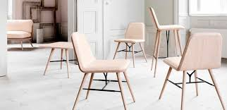 nordic style furniture. scandinavian design restaurant chair oak ash leather spine by space copenhagen fredericia furniture nordic style