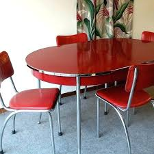 red retro chairs. Retro Kitchen Table And Chairs Items Similar To Vintage Red R