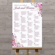 Printable Wedding Seating Charts Floral Rustic String