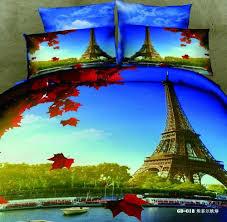 eiffel tower paris themed bedding sets
