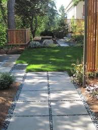 square concrete paver patio. Inexpensive Landscape Drama With Square Concrete Stepping Stones Trimmed Pebbles.good For My Backyard Walkway. Paver Patio I
