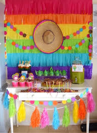 Fiesta Party Table from a Colorful Fiesta Birthday Party on Kara's Party  Ideas | KarasPartyIdeas.