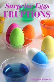 easter projects for toddlers pinterest. surprise eggs eruptions easter science activity projects for toddlers pinterest