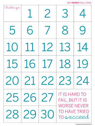 30 Day Chart Template Pin On Best Of Pinterest