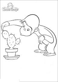 Curious George Coloring Pages And Cactus Get Coloring Page
