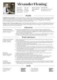 Impressive Pharmacist Internship Resume For Your Startling