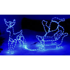 Celebrations Led Rope Light Ebay Rope Lights Silhouette Reindeer Santa Sleigh