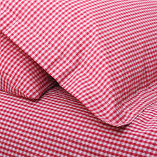 red gingham single duvet set