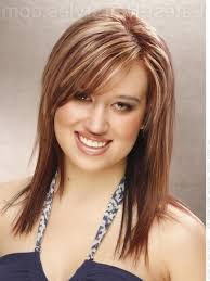 Square Face Bangs Hairstyle Medium Hairstyles For Square Faces Long Layered Haircuts With