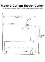 furniture impressive standard shower curtain