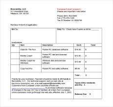 Microsoft Invoice Template Sample Microsoft Invoice Template 14 Download Free Documents In