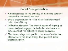sample college social disorganization theory essay objective the current study proposes unique methods for apportioning existing census data in blocks to street segments and examines the effects of