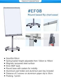 Office School Round Based Flip Chart Easel 65 100 Cm Magnetic Surface White Board With Wheels Painting Notice Board Stand Buy Painting Board
