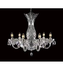 waterford crystal 136 406 bluebell 6 light 23 inch crystal chandelier ceiling light