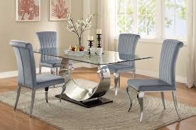 Manessier Chrome Dining Room Set  Coaster Furniture