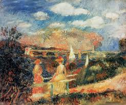 pierre auguste renoir the anks of the seine at argenteuil c