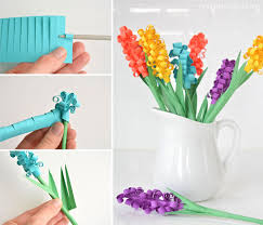 these paper hyacinth flowers are easy to put together and make a gorgeous diy bouquet