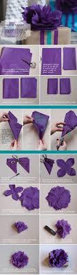 Tissue Paper Flower Instructions Diy Tissue Paper Topper Tutorial The Elli Blog