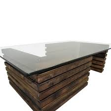 industrial wood furniture. Buy Rustic Industrial Wood And Glass Coffee Table Furniture