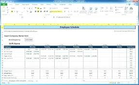 Make Schedule On Excel Create Creating A Work Schedule In Excel Plan Sheet Template