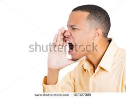 Closeup side view profile portrait of angry man with hand to open mouth yelling, isolated closeup side view profile. - stock-photo-closeup-side-view-profile-portrait-of-angry-man-with-hand-to-open-mouth-yelling-isolated-on-white-167327009