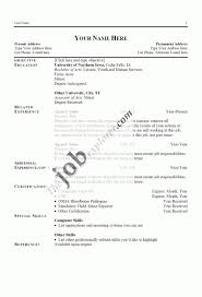 Examples Of Resumes 8 Simple Resume Sample With No Work