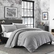 grey plaid comforter. Interesting Comforter Eddie Bauer Preston Cinder Flannel Comforter Set In Grey Plaid A