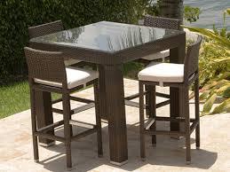 brown color outside bar furniture set pe rattan wicker bar seating set
