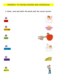 They will also learn the soft c and g sounds. Th Sound Voiced And Voiceless Worksheet