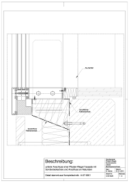 A 03 0020 Unterer Anschluss Einer Pfosten Riegel Fassade Mit