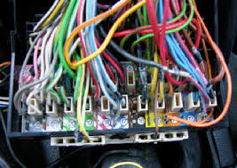 circuits and relays fuse panel color coded wires and connectors