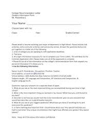 write letter recommendation college student college letter of recommendation template caseyroberts co