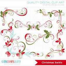 Christmas Swirls Free Clipart Christmas Swirls Christmas Floral Elements