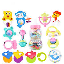 bottle loaded educational toys 3 6 12 months teether baby random color on on