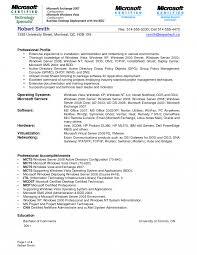 Resume Templates Exchange Server Admininstrator Examples Obiee