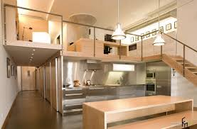 futuristic kitchen hallway with glossy stainless kitchen cabinet and light brown kitchen island with perfect lighting cabinet and lighting
