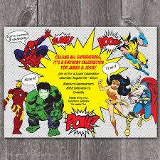 superheroes birthday party invitations superhero birthday party invitation superhero birthday