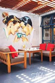 mural cafe cafe wall art