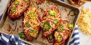 roasted sweet potato recipes.  Sweet Barbecue Chicken Sweet Potatoes Horizontal Inside Roasted Potato Recipes T