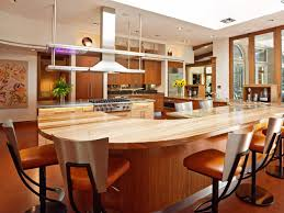 spacious modern kitchen with large breakfast bar