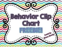 Rainbow Chevron Behavior Chart Freebie Behavior Clip
