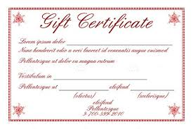 Gift Certificate Template With Logo Gift Certificate Template With Sample Text Vectorjunky
