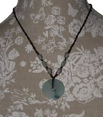 chinese jade bi disc pendant with green