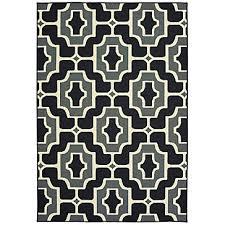 sausalito outdoor rug black
